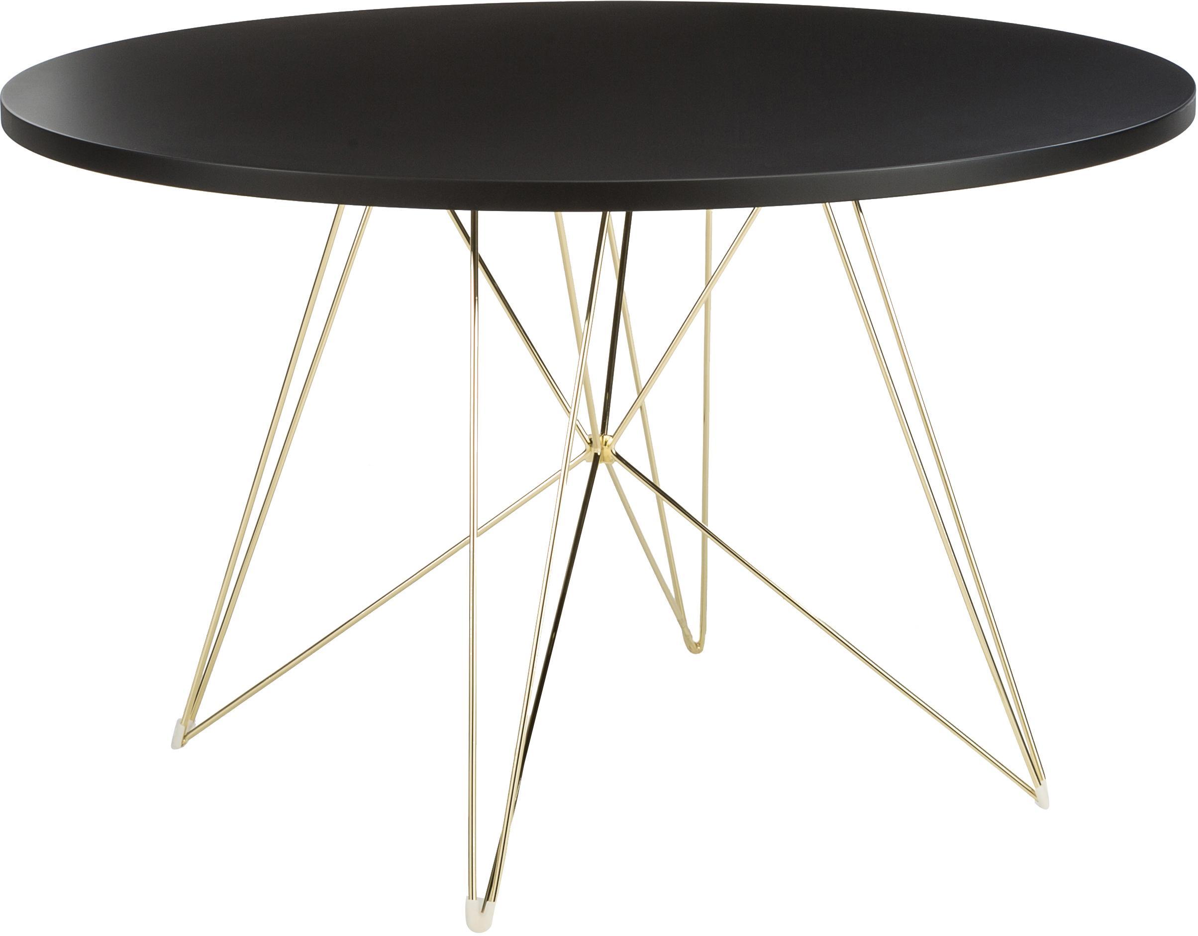Table ronde avec tréteaux XZ3, Laiton