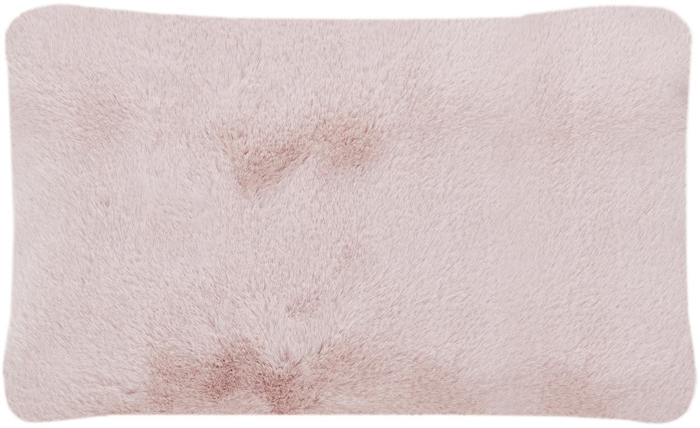Federa arredo in similpelle Mette, Retro: 100% poliestere, Rosa, Larg. 30 x Lung. 50 cm