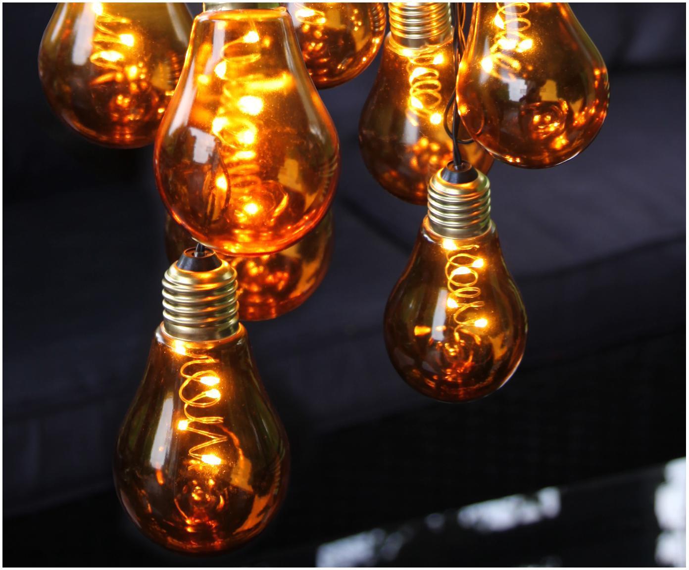 Girlanda świetlna LED Bulb, 360 cm, Żarówka: bursztynowy, złoty<br>Kabel: czarny, D 360 cm