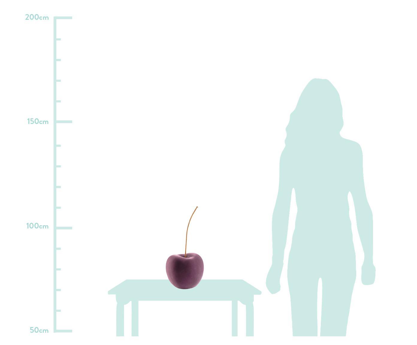 Dekoracja Cherry, Tapicerka: aksamit poliestrowy, Purpurowy, odcienie mosiądzu, S 20 x W 46 cm