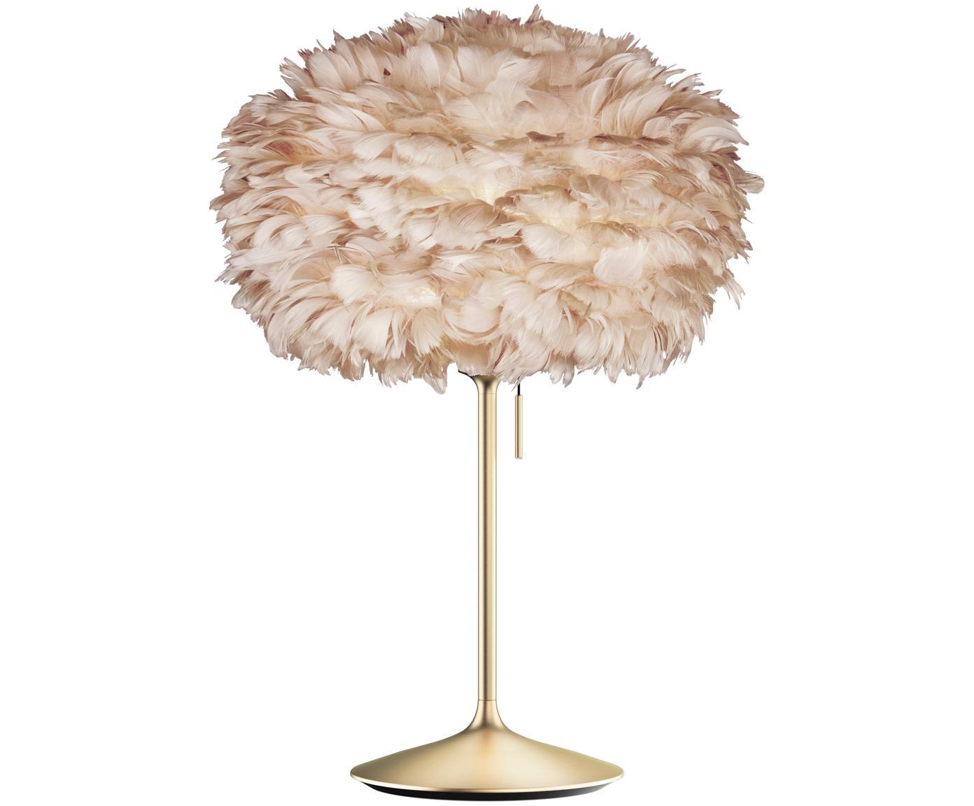 Duża lampa stołowa Eos Champagne, Stelaż: stal, Jasny brązowy, mosiądz, Ø 45 x W 72 cm