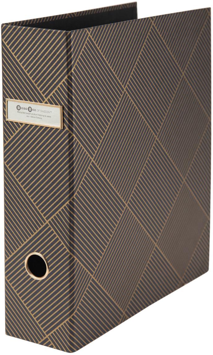 Dokumentenordner Archie, Goldfarben, Dunkelgrau, 29 x 32 cm