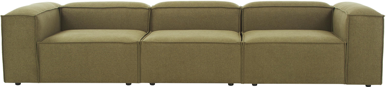 Modulares Sofa Lennon (4-Sitzer), Bezug: 100% Polyester 35.000 Sch, Gestell: Massives Kiefernholz, Spe, Webstoff Grün, B 326 x T 119 cm