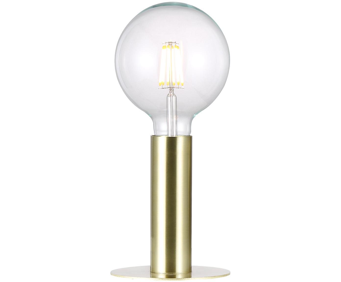 Lampada da tavolo in ottone Dean, Ottone, Ottone, Ø 13 x Alt. 15 cm