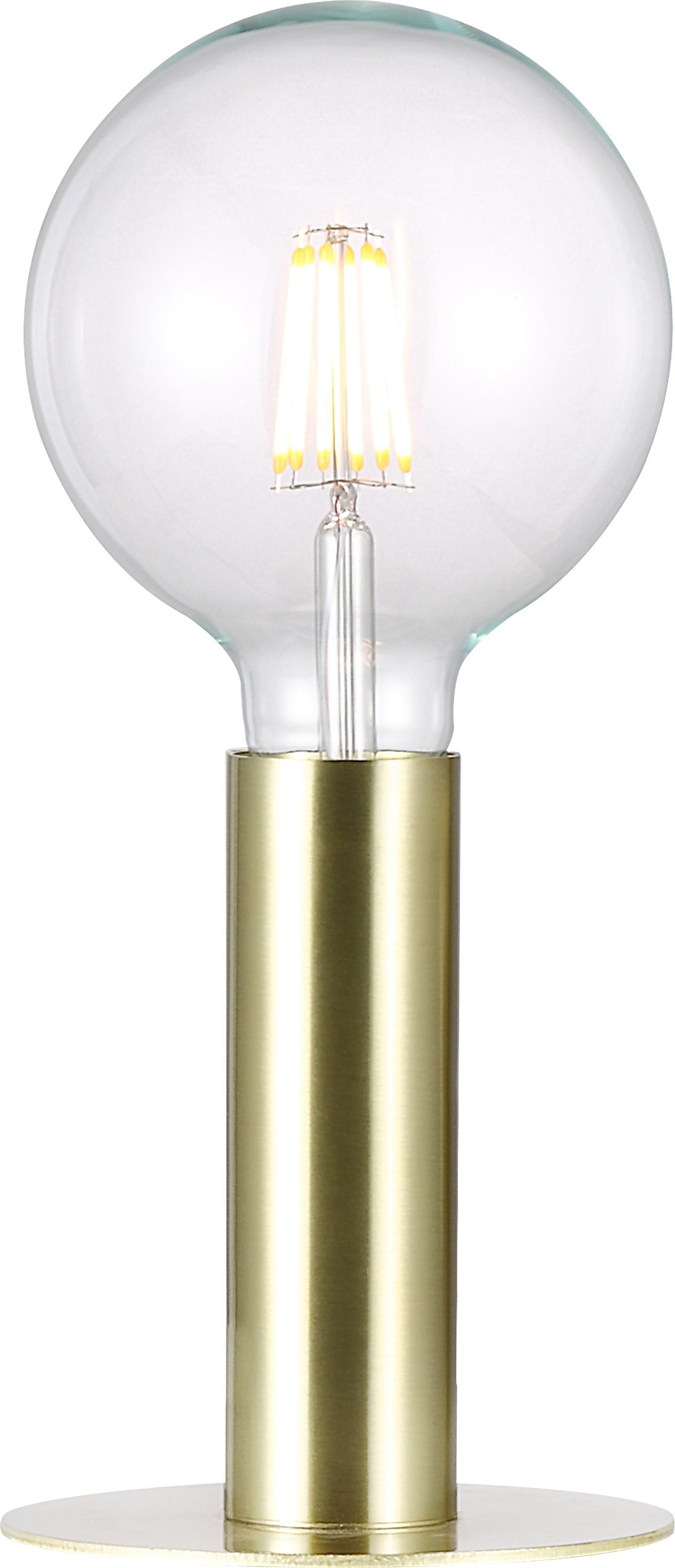 Mała lampa stołowa z metalu Dean, Mosiądz, Mosiądz, Ø 13 x W 15 cm