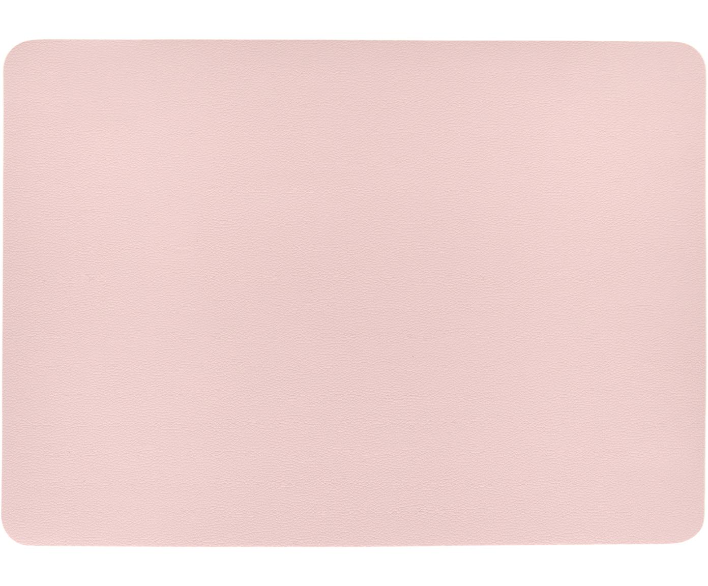 Podkładka ze sztucznej skóry Pik, 2 szt., Tworzywo sztuczne (PVC), Blady różowy, S 33 x D 46 cm