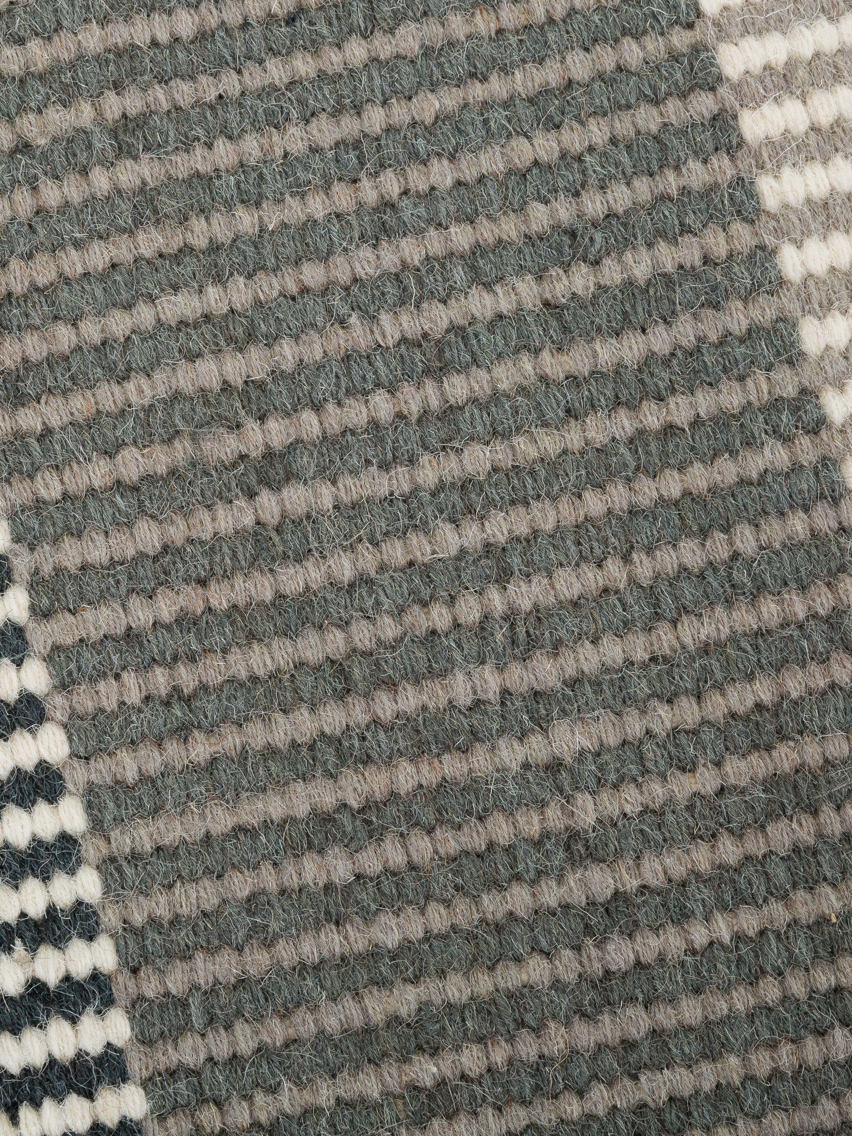 Gestreifter Kelimläufer Devise aus Wolle, handgewebt, Mehrfarbig, 80 x 280 cm