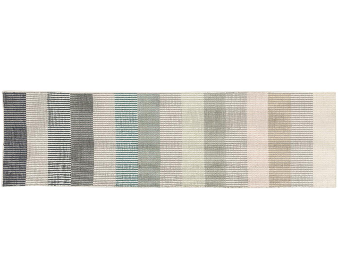 Handgeweven wollen loper Devise, Multicolour, 80 x 280 cm