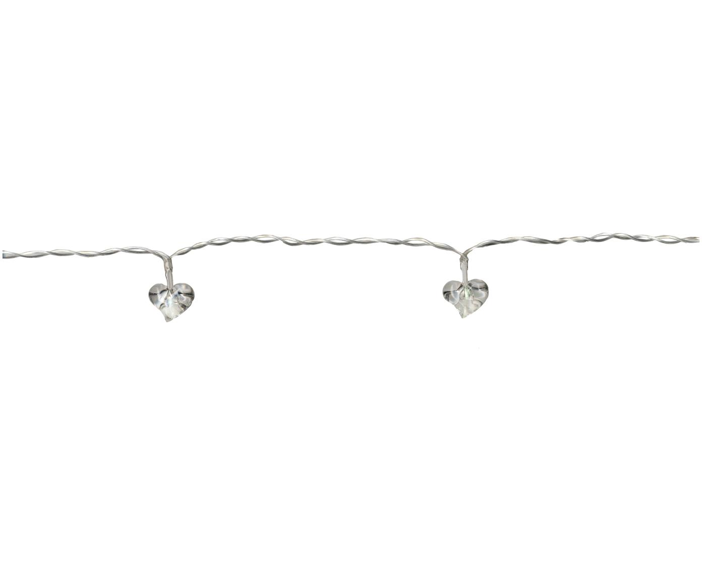 Ghirlanda  a LED Heart, 135 cm, Materiale sintetico, Trasparente, Lung. 135 cm