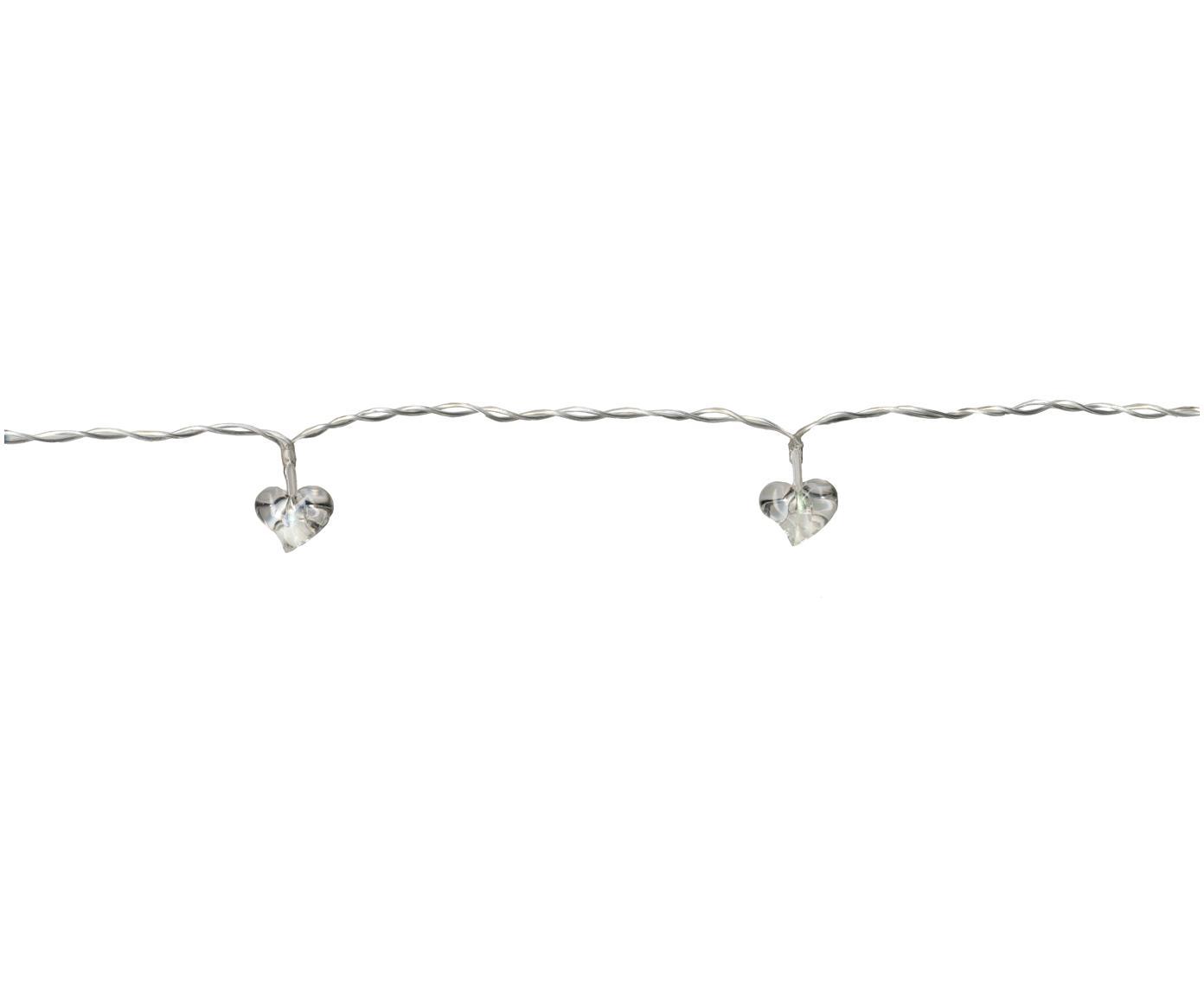 LED lichtslinger Heart, Kunststof, Transparant, L 135 cm