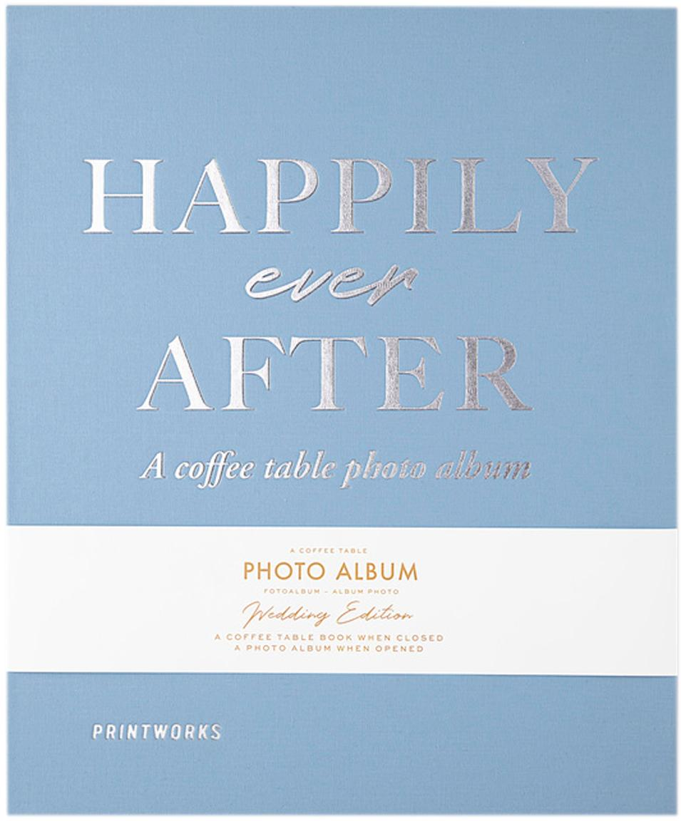 Album fotografico Happily Ever After, Blu, bianco, argento, nero, Lung. 32 x Larg. 26 cm