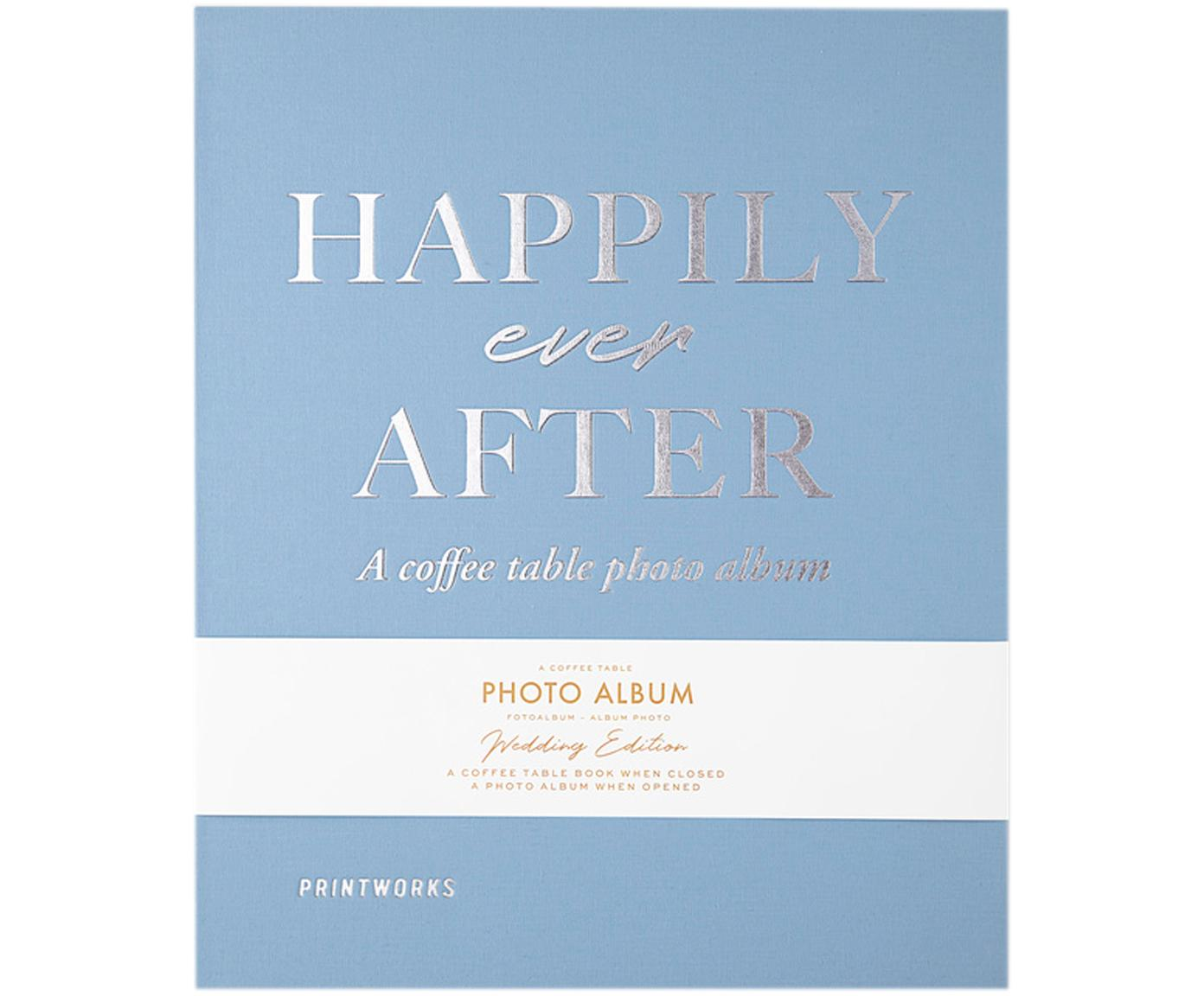 Álbum de fotos Happily Ever After, Azul, blanco, plateado, negro, L 32 x An 26 cm