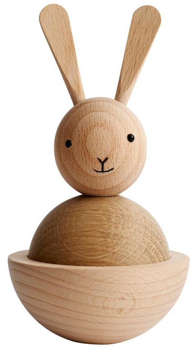 Deko-Objekt Rabbit, Holz, Schwarz, Ø 7 x H 13 cm