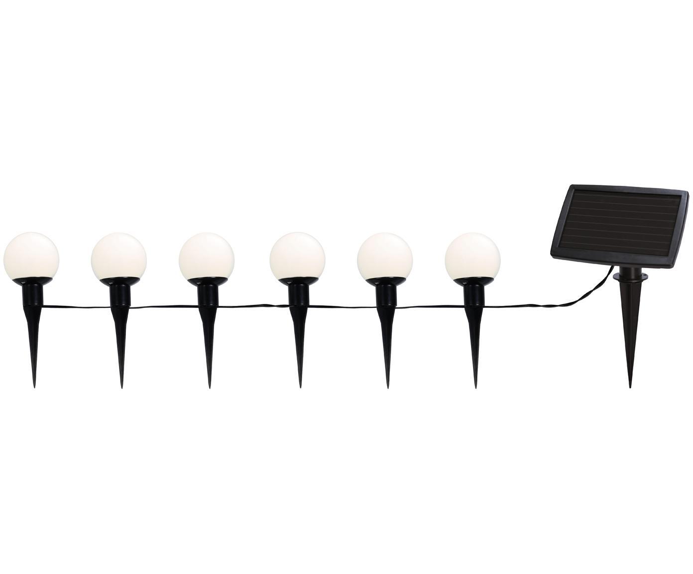 Solar lichtslinger Globus, Zwart, transparant, L 500 cm