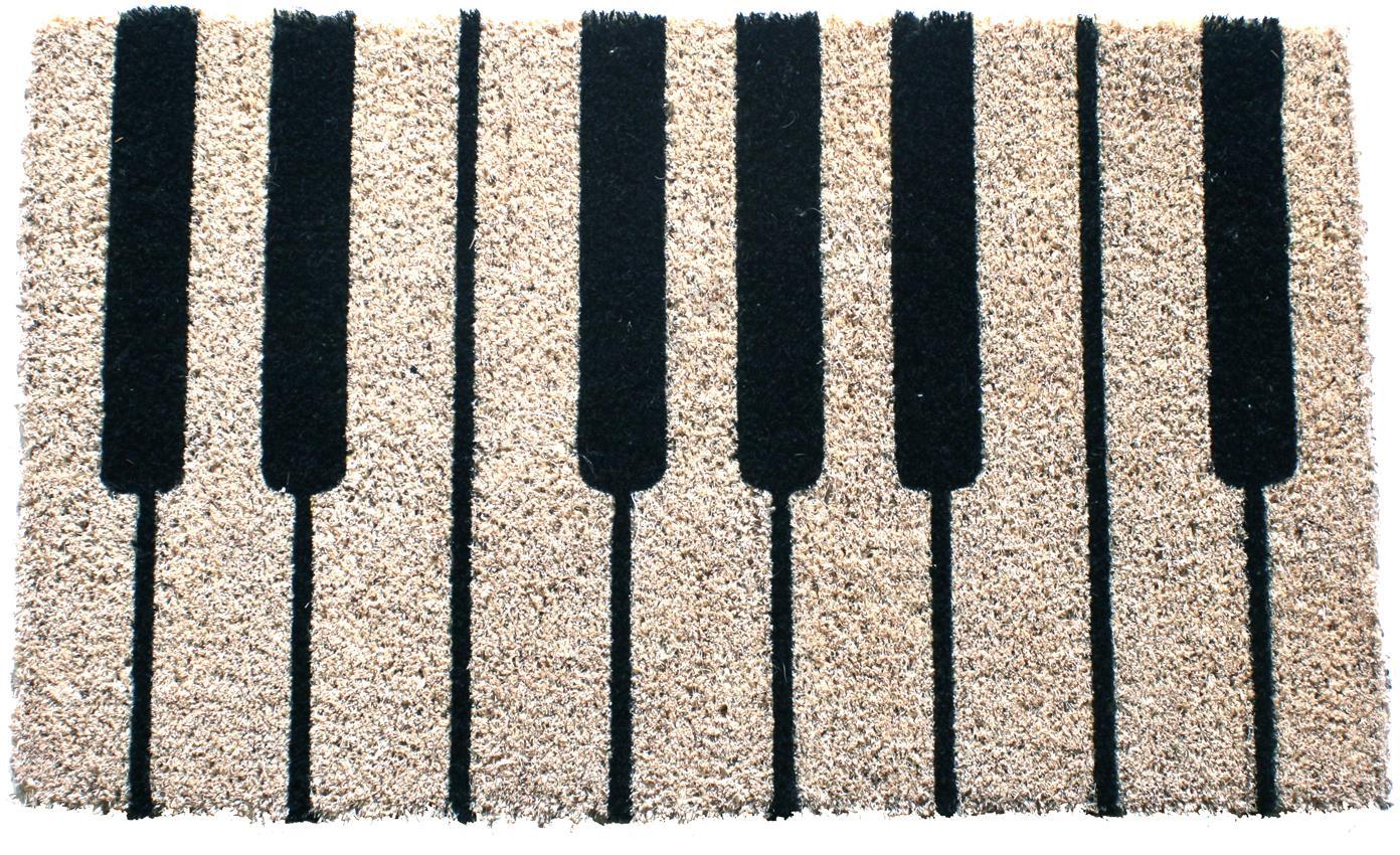 Wycieraczka Piano, Czarny, kremowy, S 40 x D 60 cm