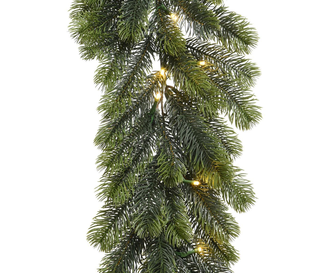Batteriebetriebene LED Weihnachtsgirlande Prestige, Kunststoff (Polyethylen), Grün, L 180 cm