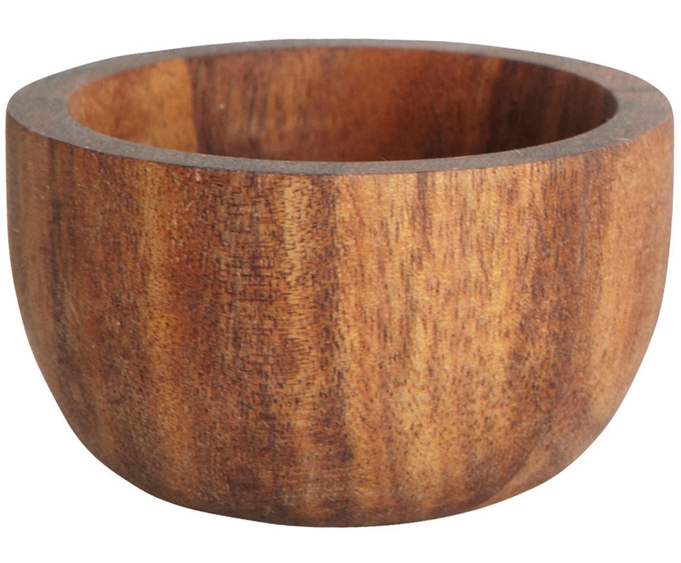 Eierbecher Nature, 6 Stück, Akazienholz, Braun, Ø 6 x H 3 cm