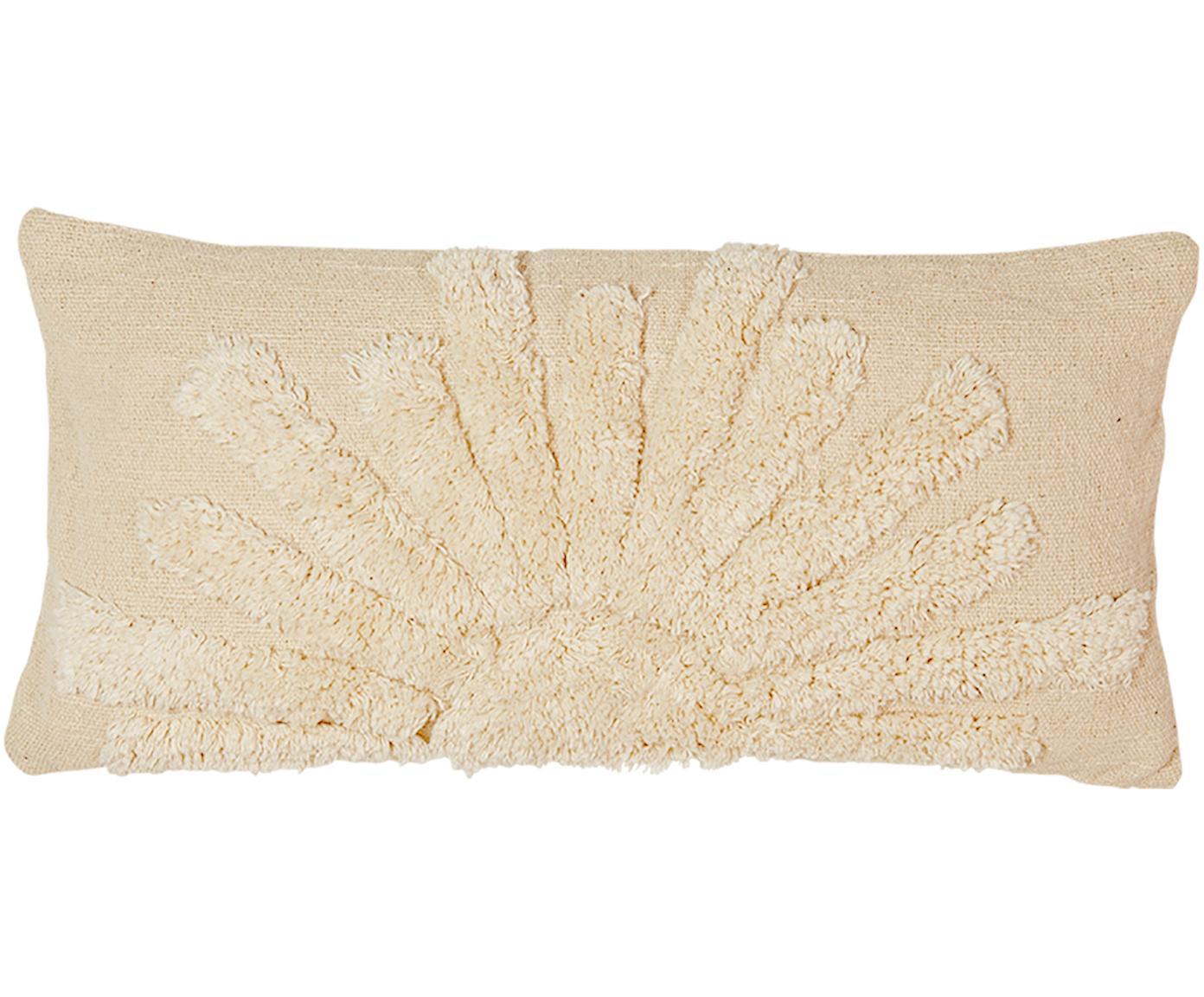 Federa arredo in cotone bio Sunrise, Cotone organico, Beige, Larg. 30 x Lung. 60 cm