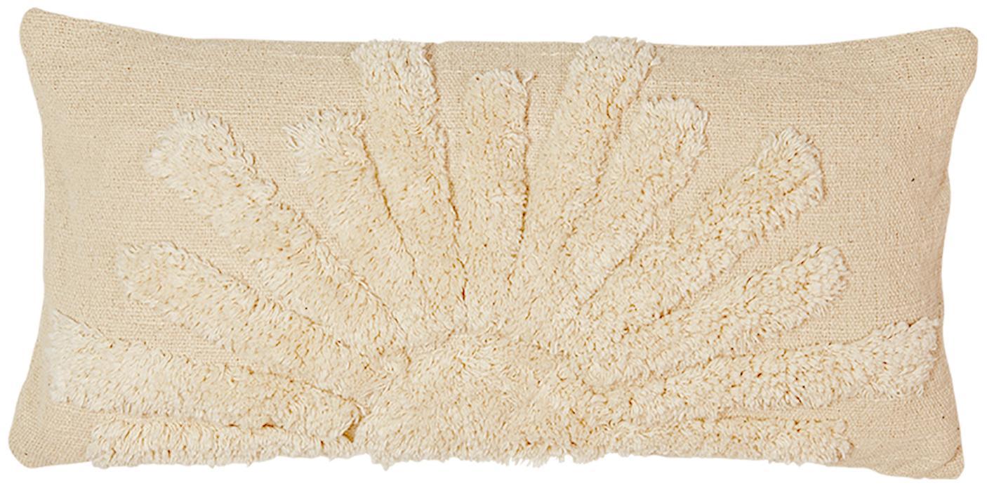 Funda de cojín de algodón ecológico Sunrise, Algodón ecológico, Beige, An 30 x L 60 cm
