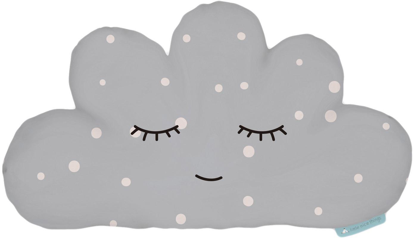 Cuscino nuvola soffice Cloud, Poliestere (microfibra), Grigio, bianco, nero, Larg. 21 x Lung. 42 cm