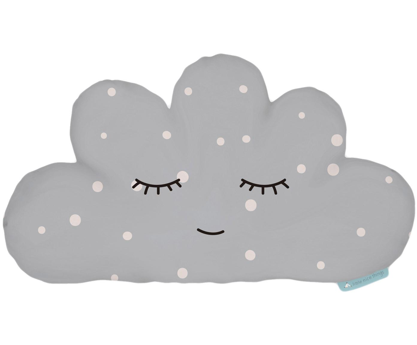 Knuffelkussen Cloud, Polyester (microvezels), Grijs, wit, zwart, 21 x 42 cm