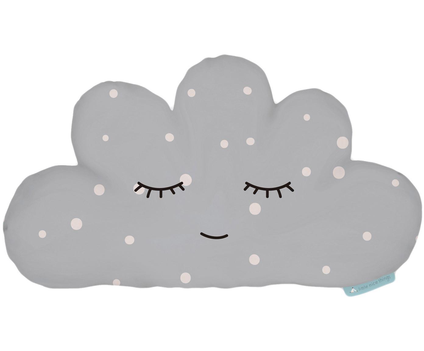 Kuschelkissen Cloud, Polyester (Mikrofaser), Grau, Weiss, Schwarz, 21 x 42 cm
