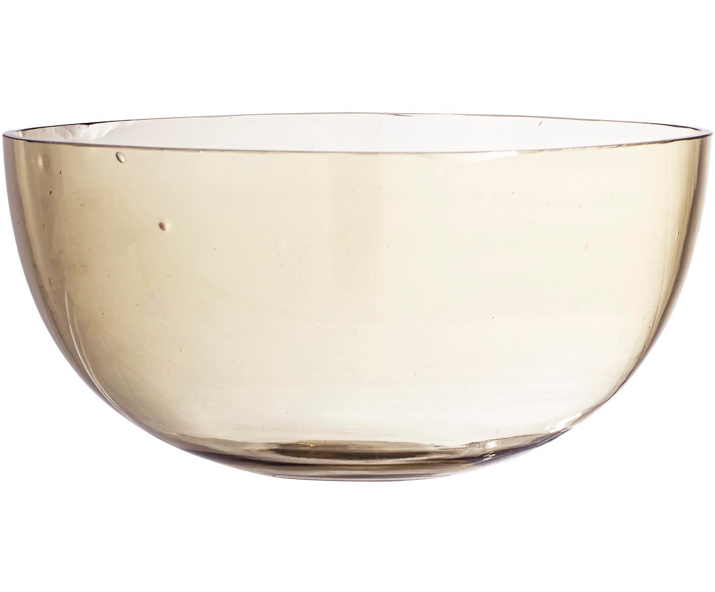 Cuenco de vidrio reciclado Casie, Vidrio reciclado, Marrón, transparente, Ø 22 x Al 11 cm