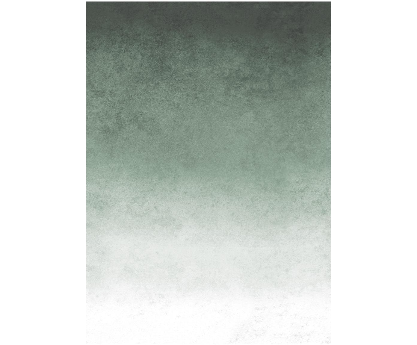 Adesivo murale Fading, Tessuto non tessuto, Bianco, verde chiaro, verde scuro, Larg. 200 x Alt. 280 cm