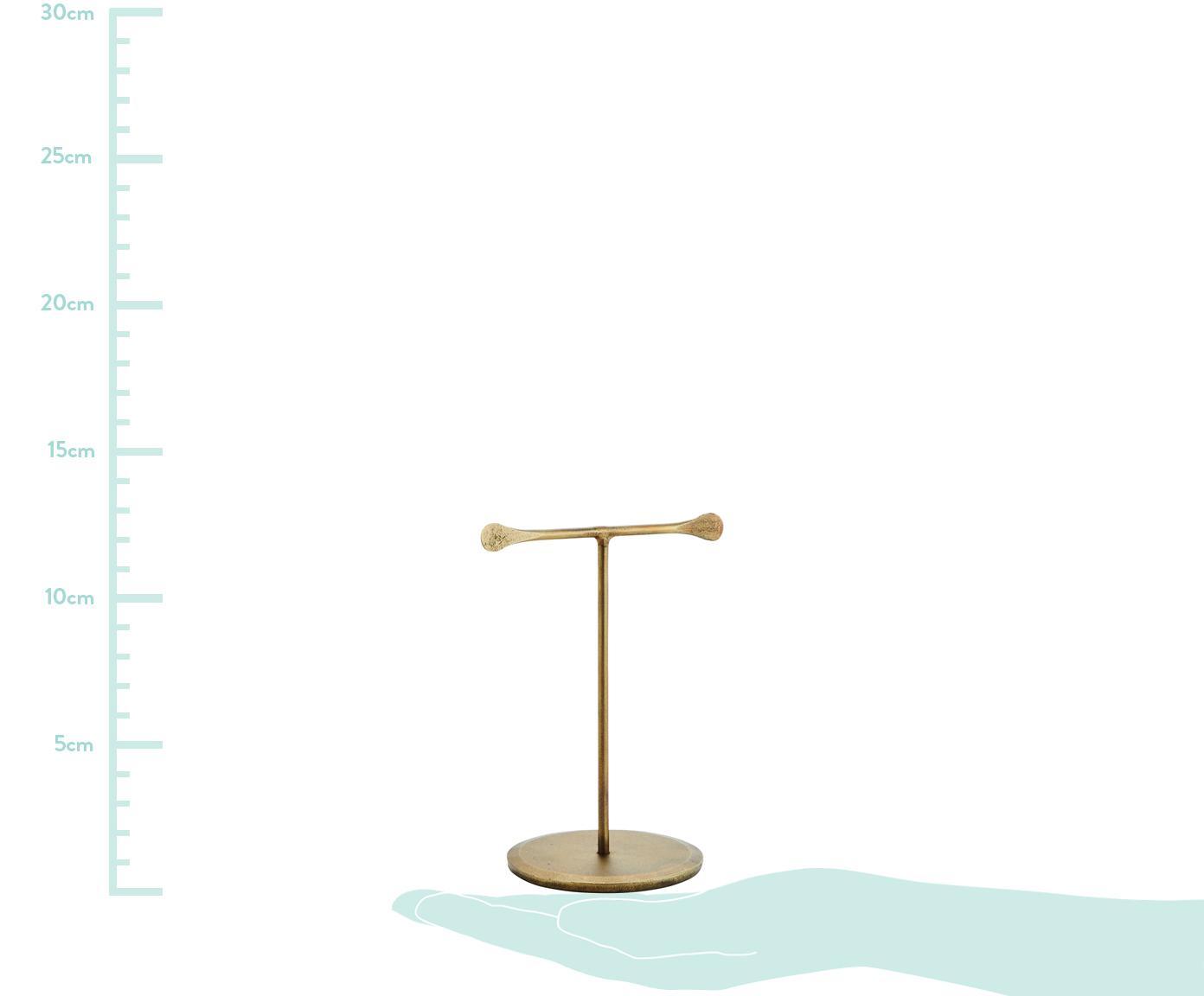 Schmuckhalter Antra in Messingoptik, Metall, vermessingt, Messing, 10 x 12 cm