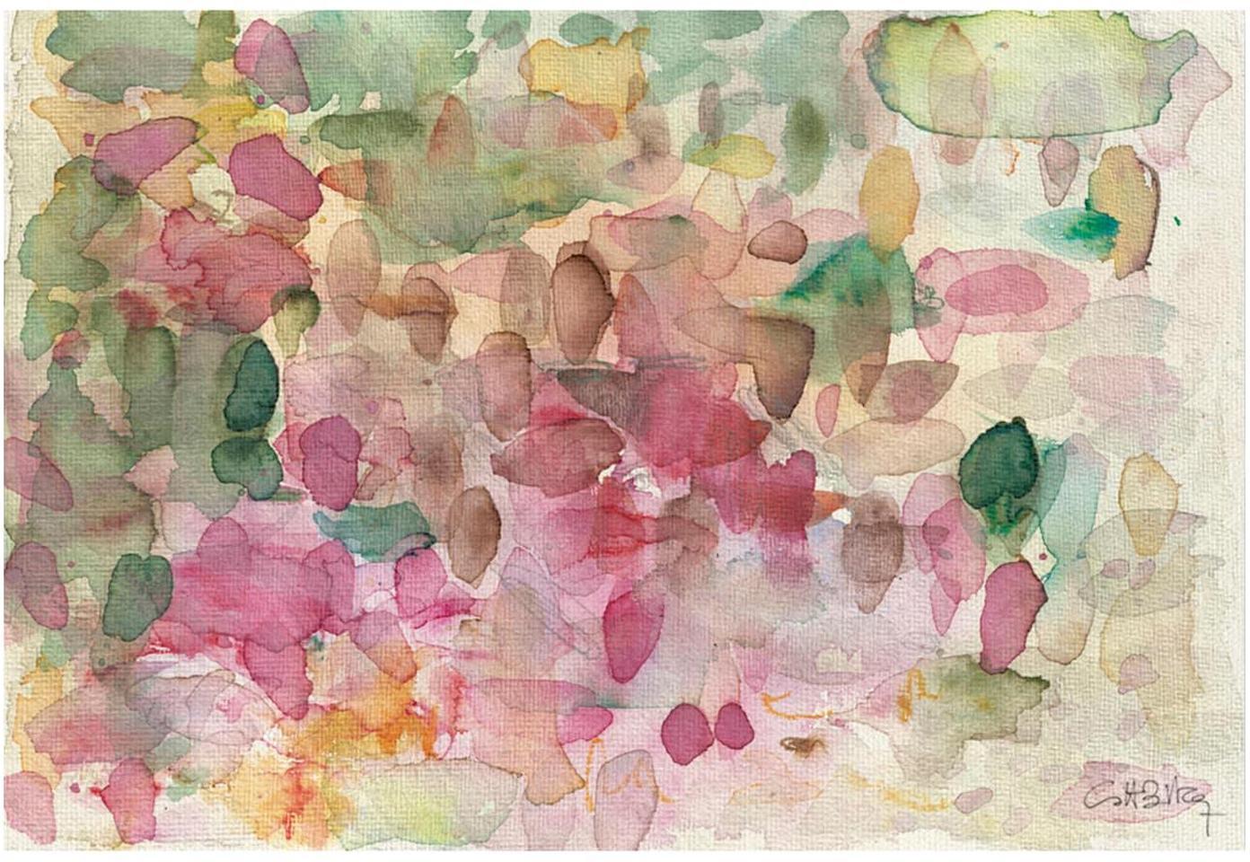 Impresión sobre lienzo Petalos, Multicolor, An 60 x Al 40 cm