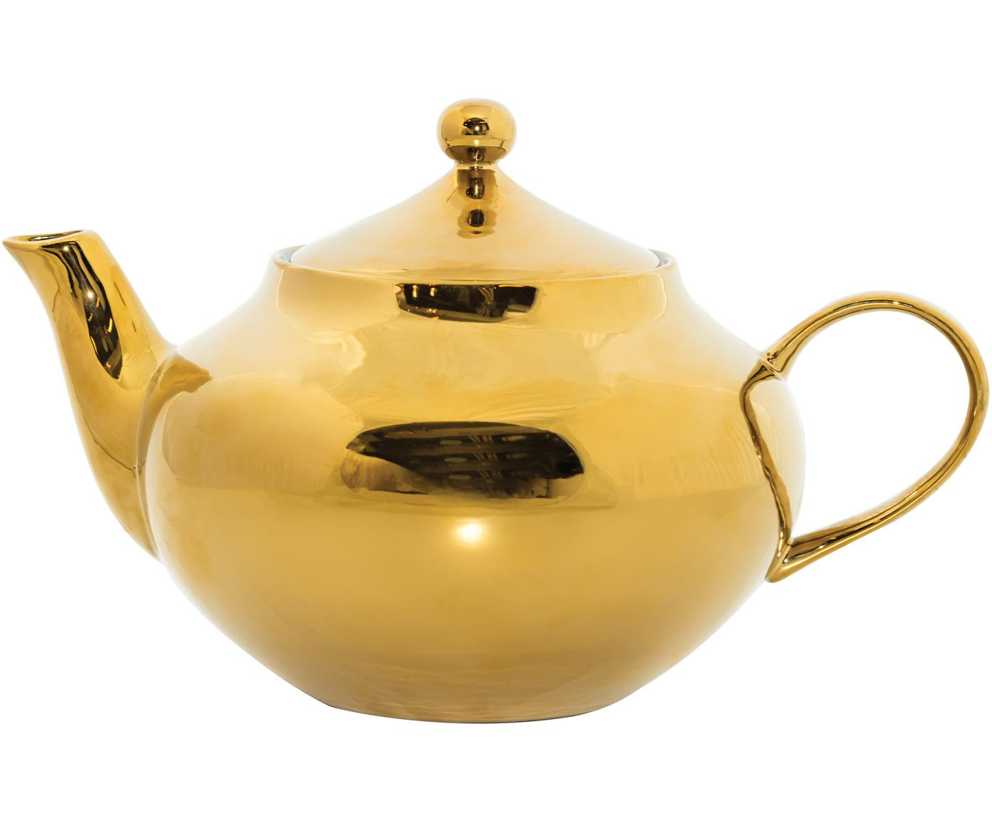 Theepot Good Morning in goudkleur, Keramiek, Goudkleurig, 25 x 17 cm