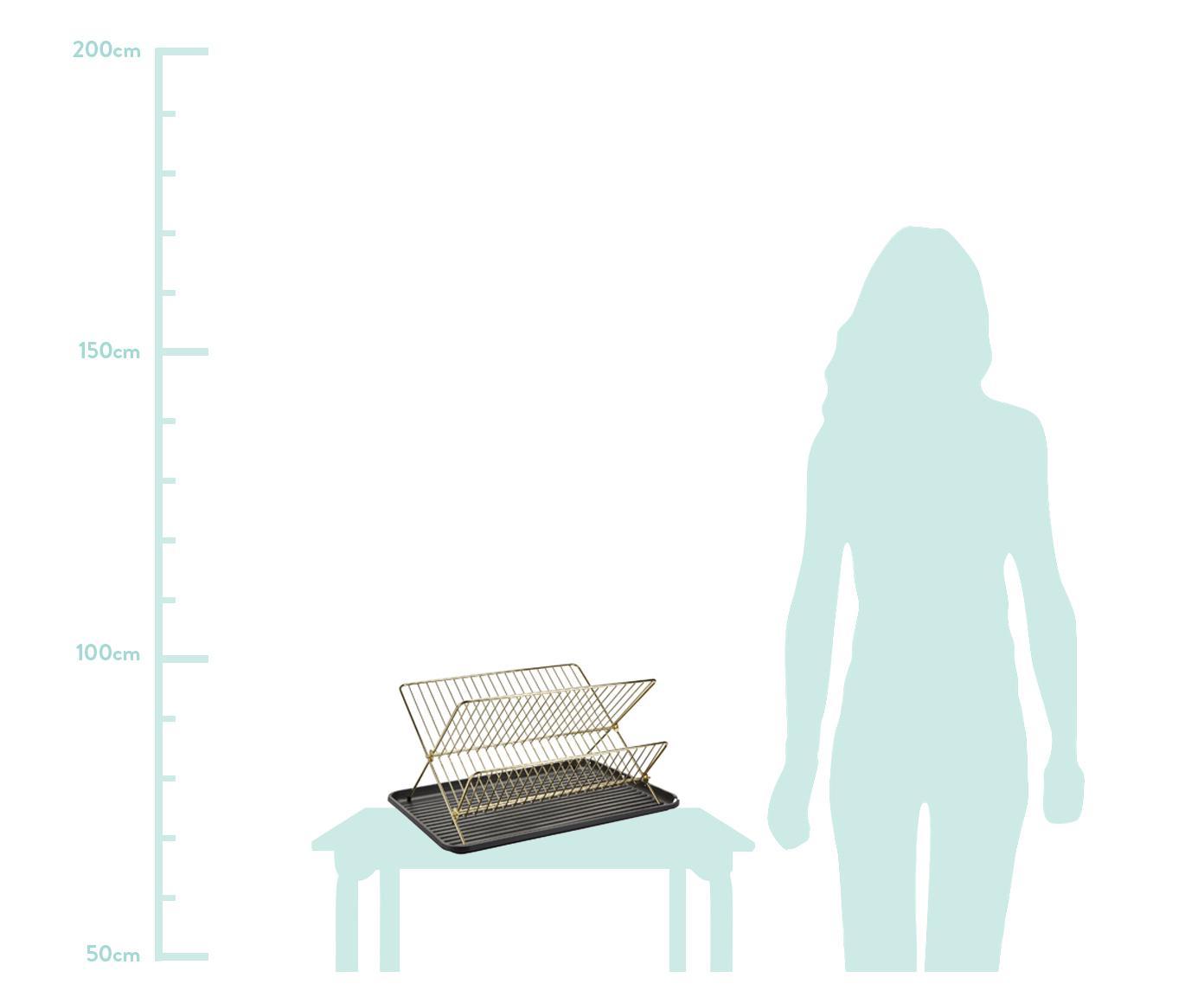 Ociekacz do naczyń Amo, Stelaż: żelazo, powlekany, Odcienie mosiądzu, S 43 x W 32 cm