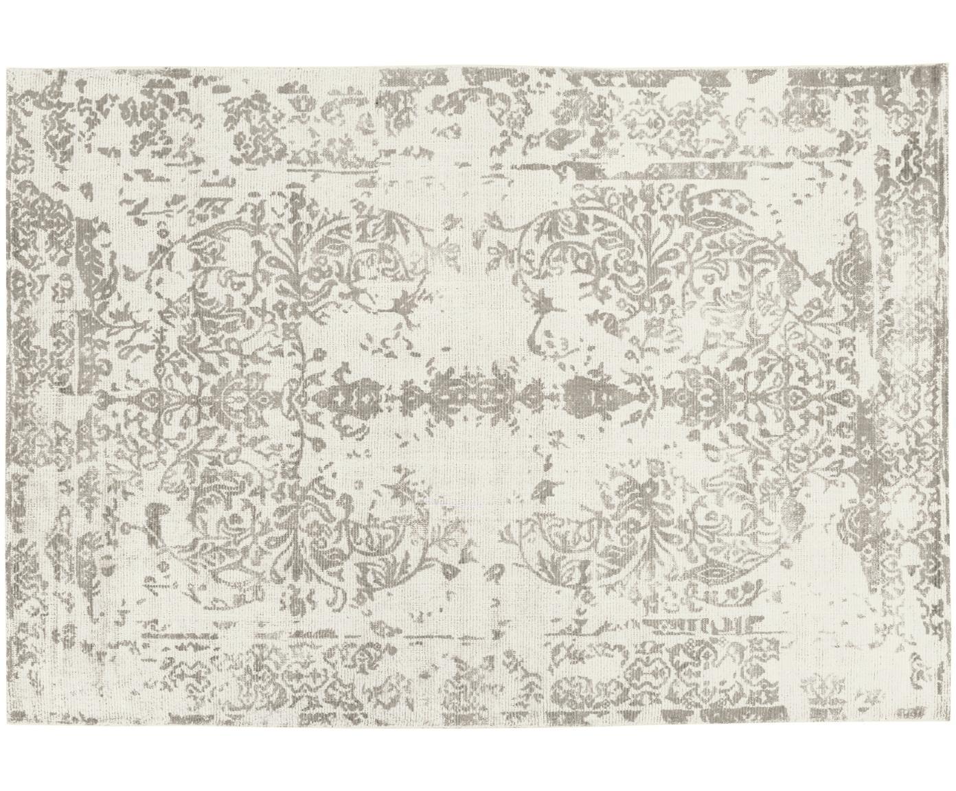 Tappeto vintage in lana/viscosa Cordoba, Beige, grigio chiaro, Larg. 140 x Lung. 200 cm (taglia S)