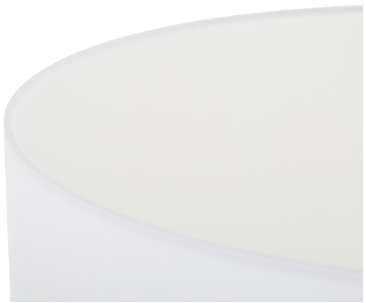 Vloerlamp Cella, Lampenkap: katoen, Lampvoet: metaal, Lampvoet: glanzend goudkleurig. Lampenkap: wit, Ø 45 x H 148 cm