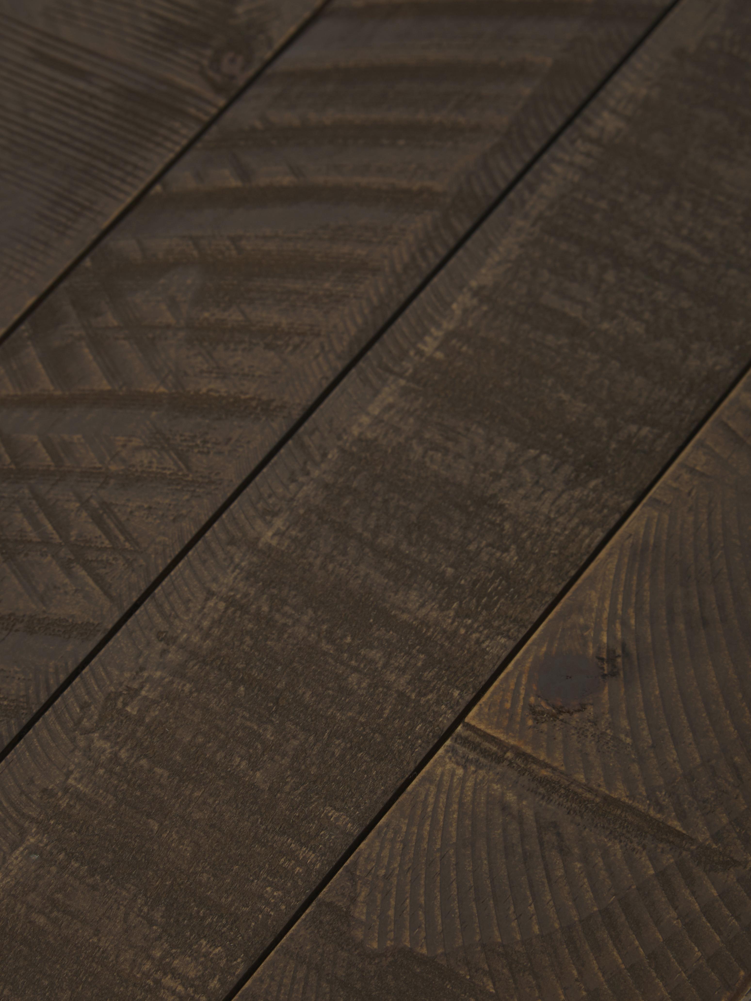 Consolle in design industriale Dalton, Ripiani: legno di pino, verniciato, Struttura: metallo, laccato, Ripiani: marrone grigio con struttura in legno a vista Struttura: dorato, Larg. 121 x Prof. 31 cm