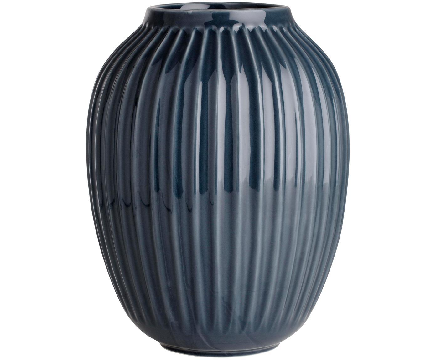 Ręcznie wykonany wazon Hammershøi, Porcelana, Antracytowy, Ø 20 x W 25 cm