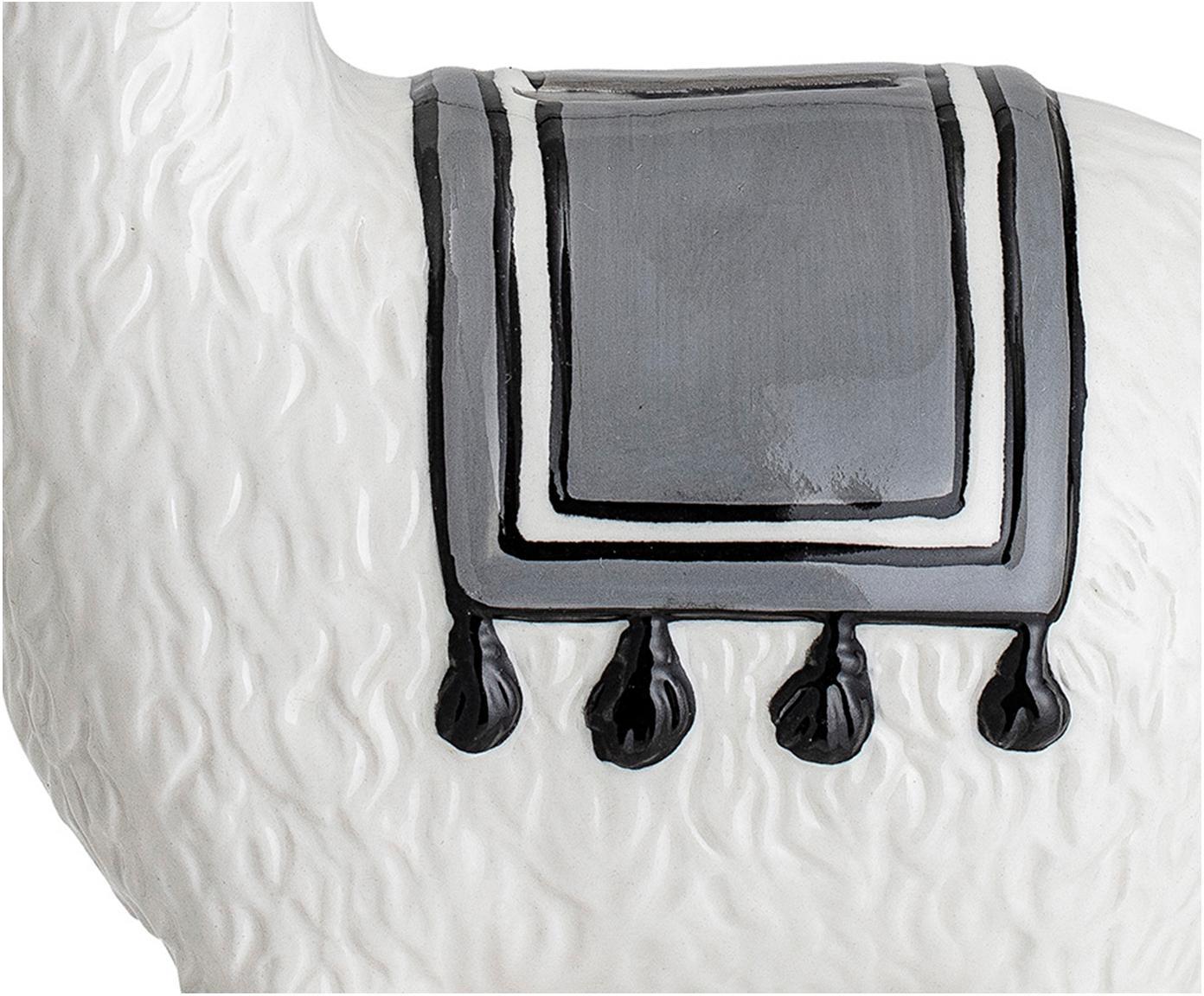 Spardose Lama, Steingut, Weiß, 17 x 18 cm