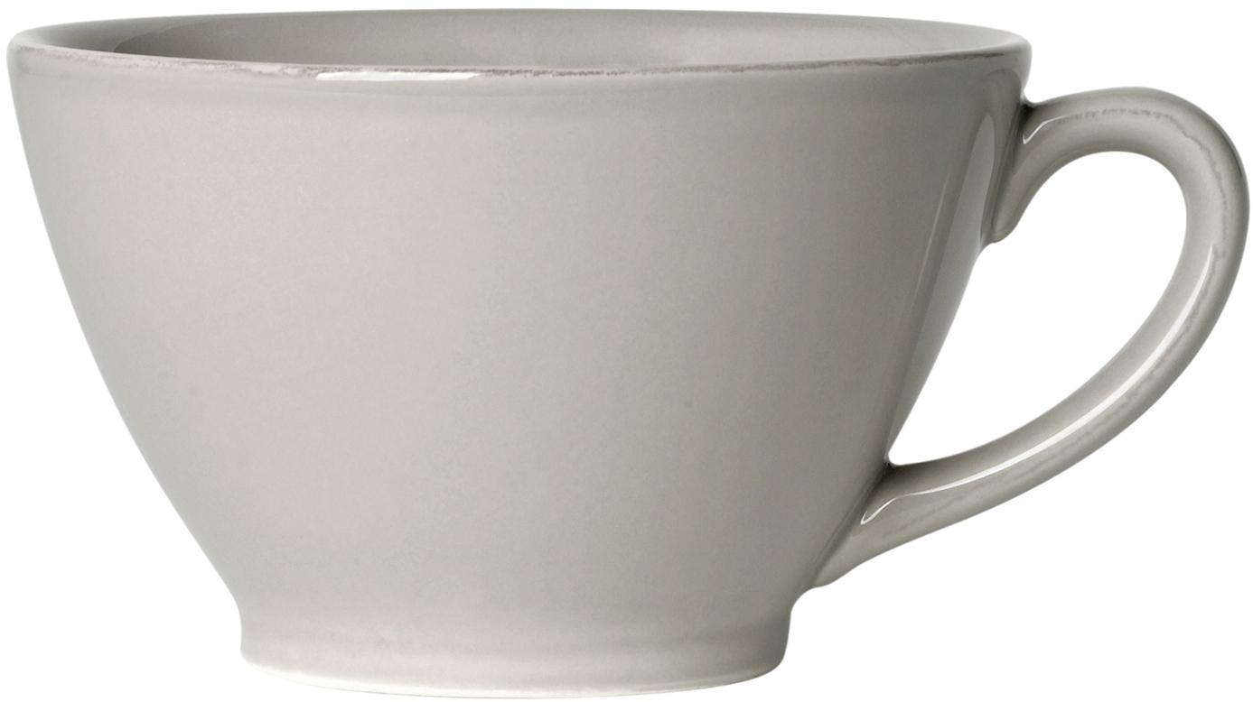 Tazza da te color grigio chiaro Constance, Terracotta, Grigio chiaro, Ø 15 x Alt. 9 cm