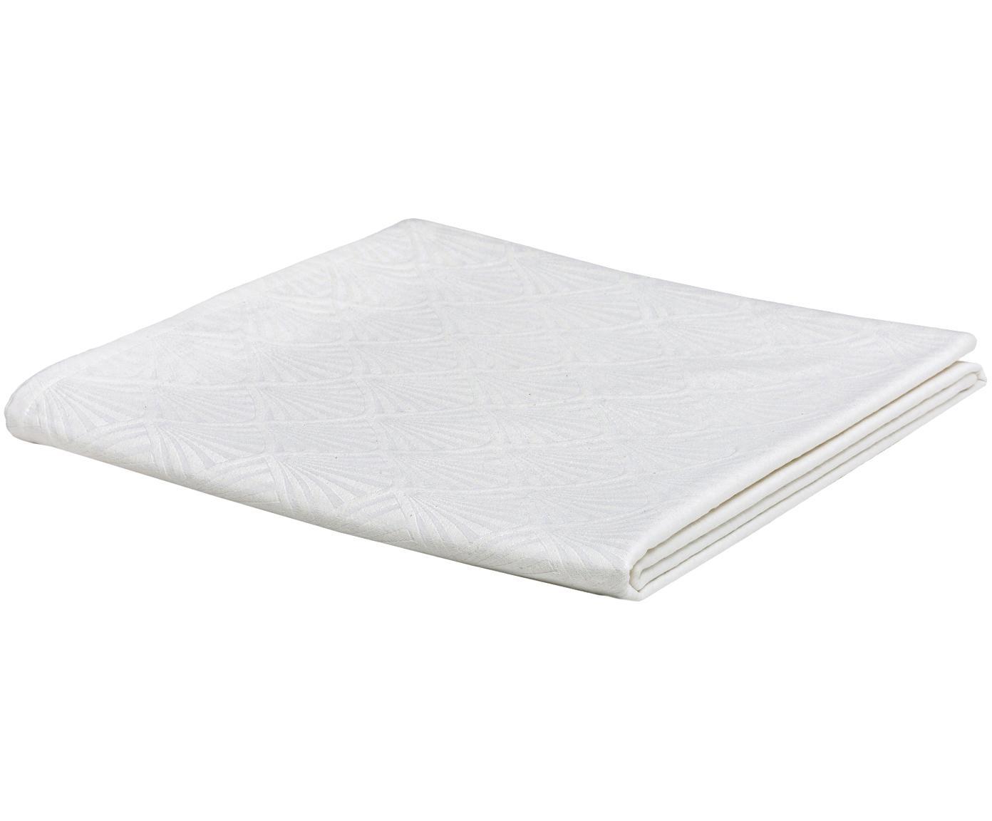 Tafelkleed met patroon Celine, Weeftechniek: jacquard, Wit, Voor 2 - 4 personen (B 150 x L 150 cm)