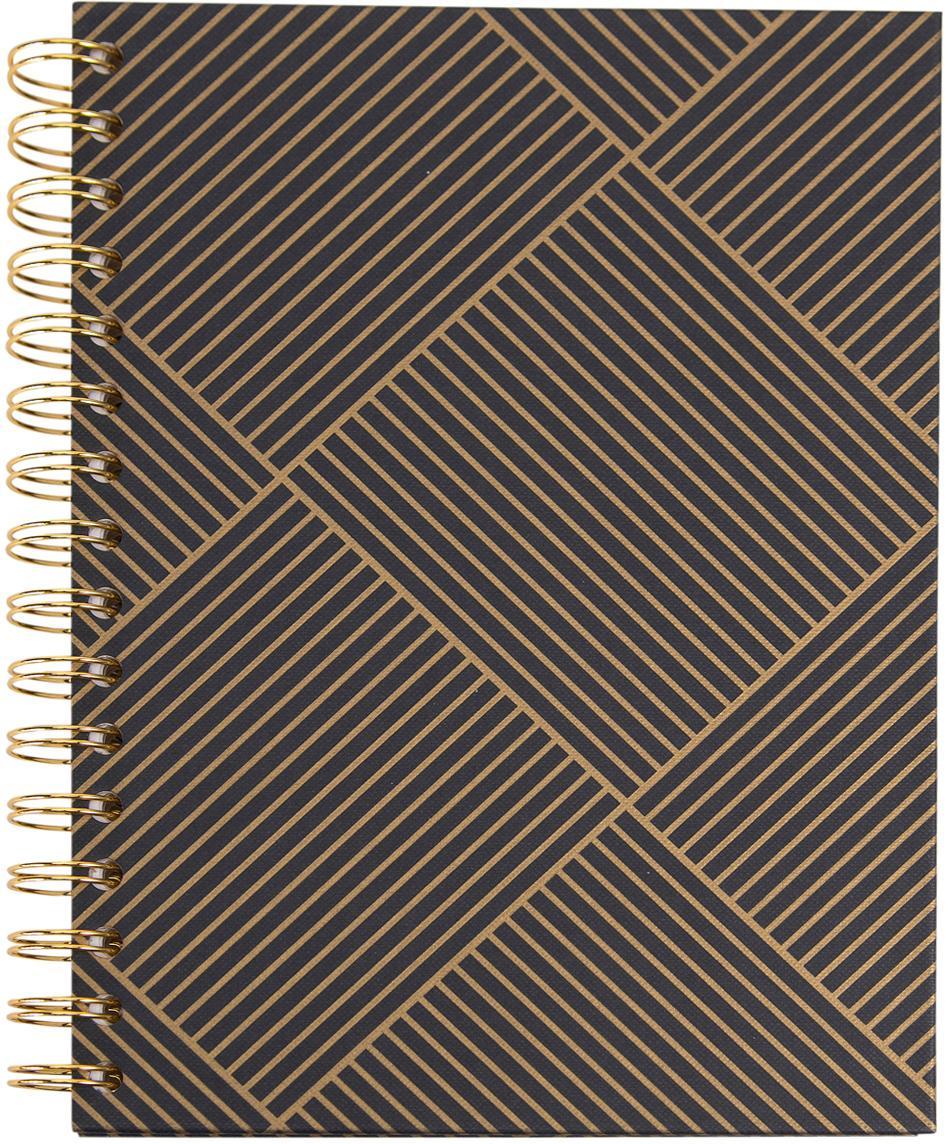 Notizbuch Bürli, Goldfarben, Dunkelgrau, 16 x 21 cm