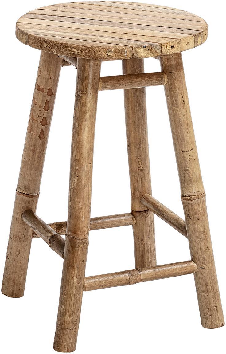 Kruk Sole van bamboehout, Bamboehout, Beige, Ø 30 x H 50 cm