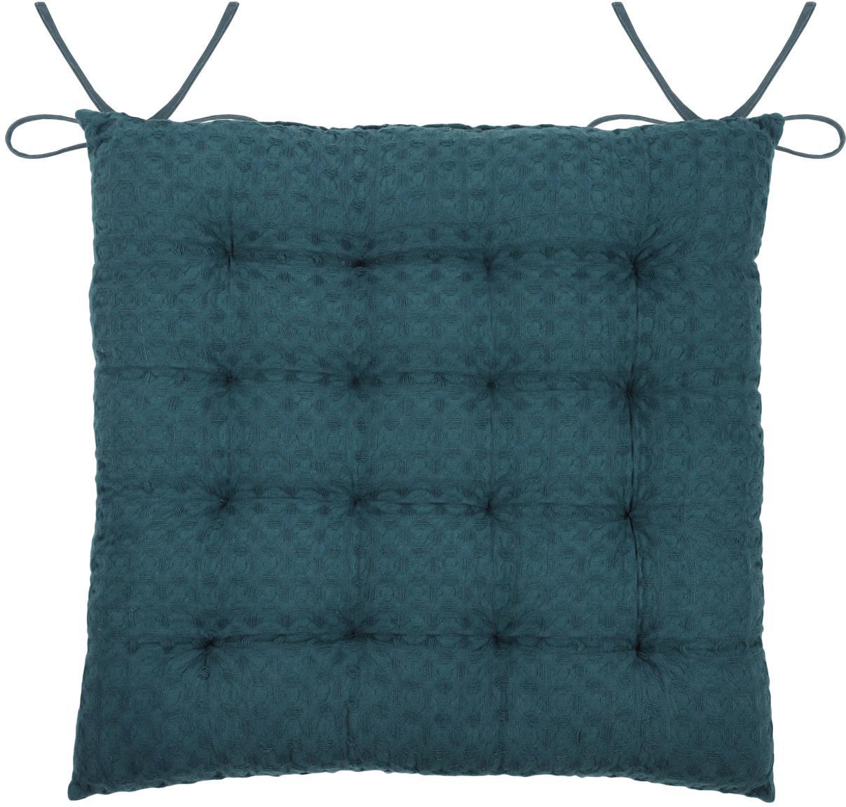 Cuscino sedia Gopher, Blu petrolio, Larg. 40 x Lung. 40 cm