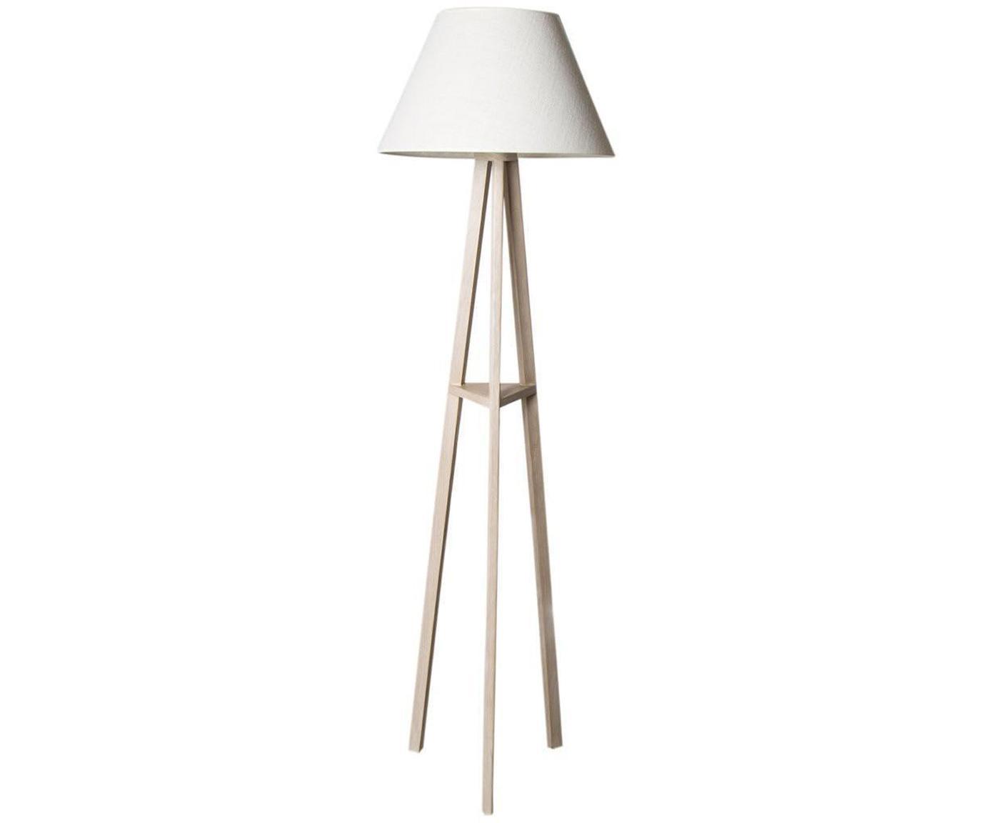 Lámpara de pie Cono, Pantalla: algodón, Blanco, Beige, Ø 50 x Al 175 cm