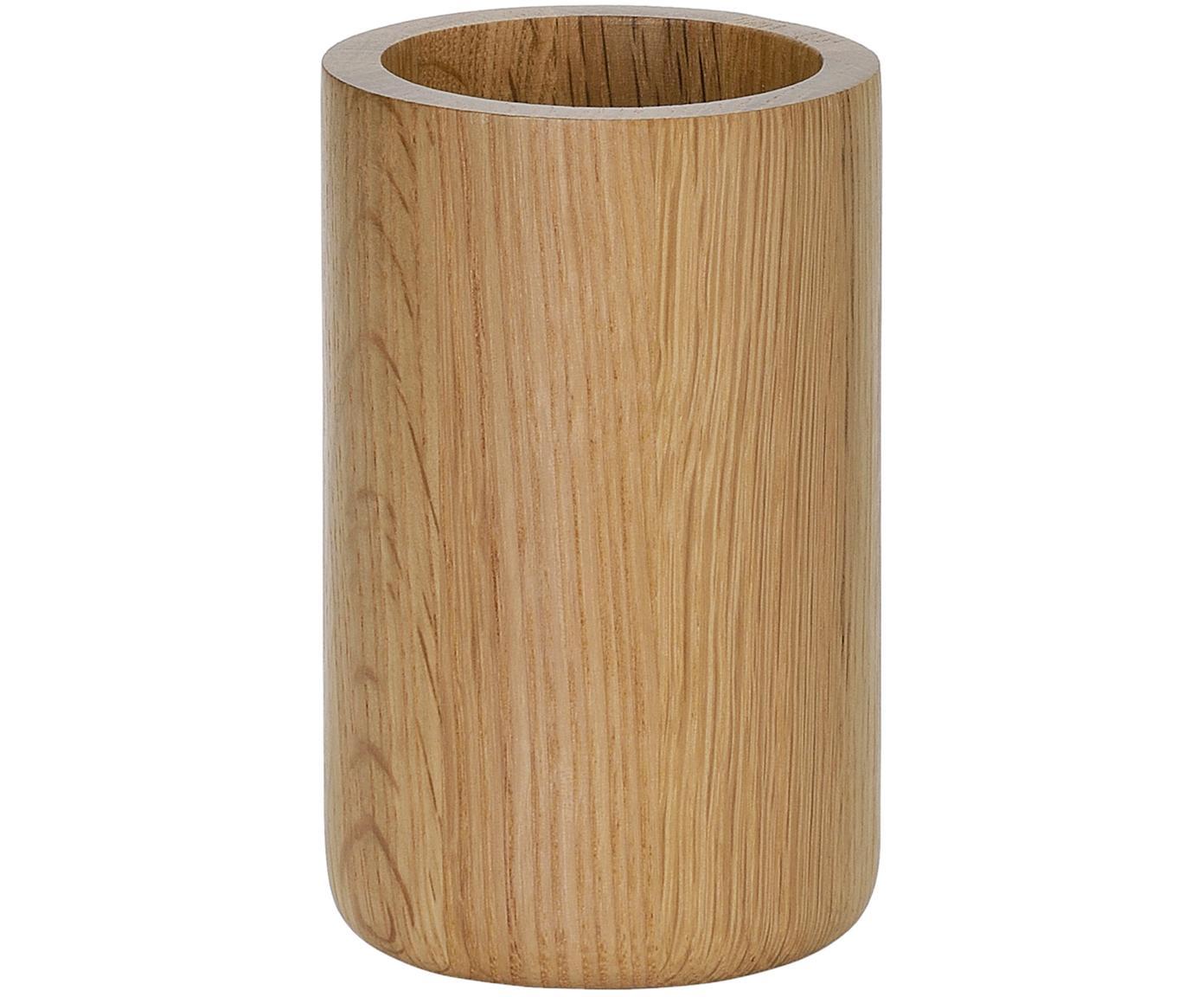 Porta spazzolini in quercia Eir, Legno di quercia, Legno di quercia, Ø 7 x Alt. 11 cm