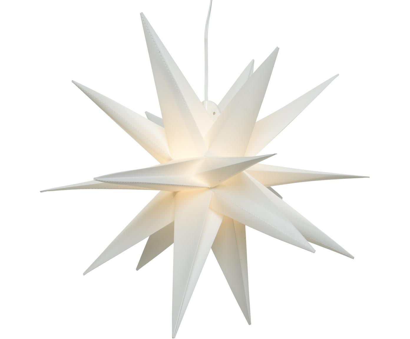 Estrella LED a pilas Zing, Cable: plástico, Blanco, Ø 30 cm