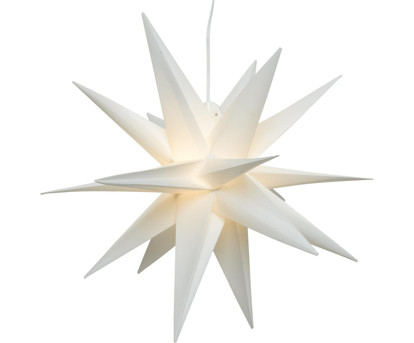 Lampa w kształcie gwiazdy LED zasilana na baterie Zing, Biały, Ø 30 cm