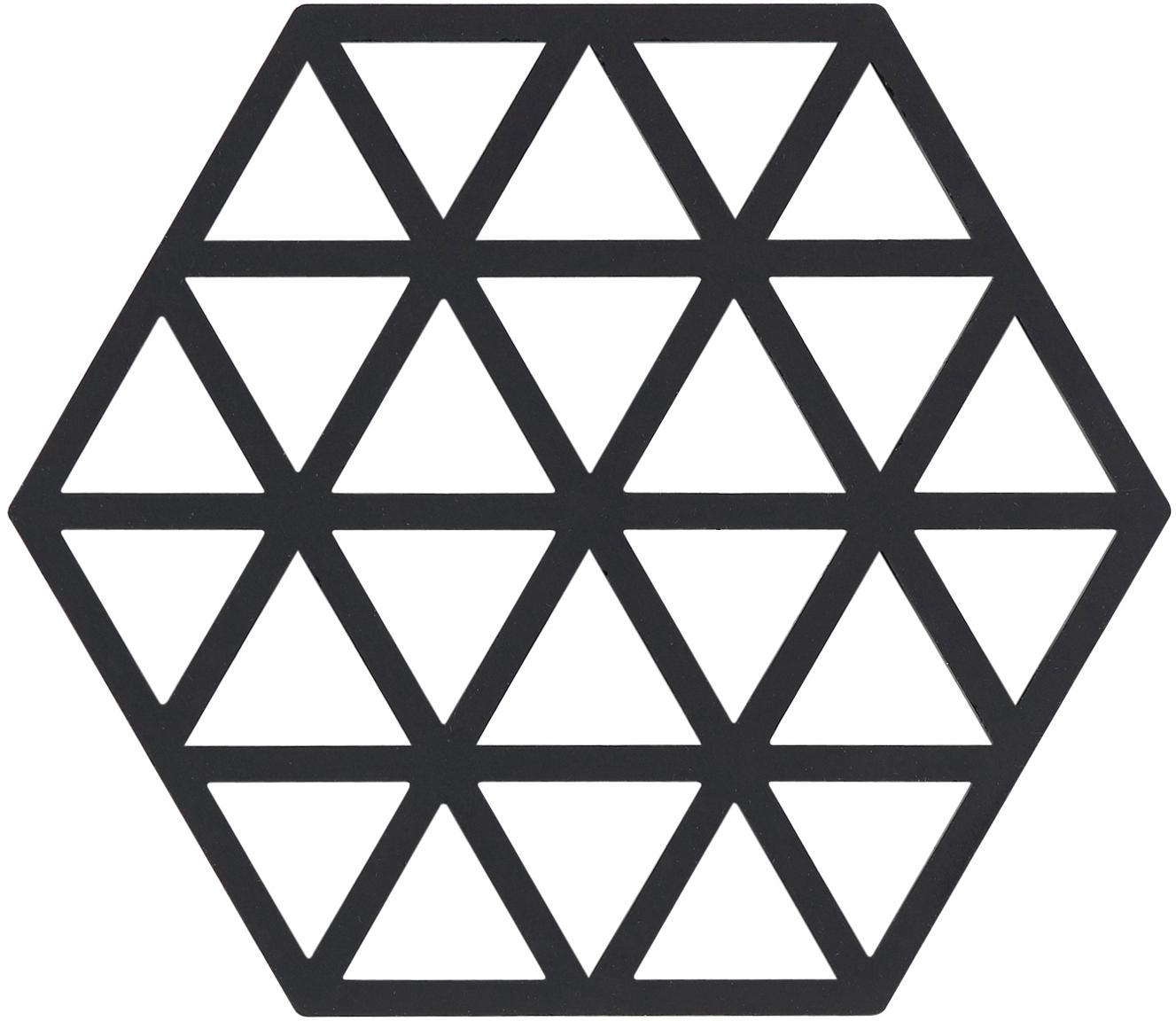Salvamanteles de silicona Triangle, 2uds., Silicona, Negro, An 14x F 16 cm