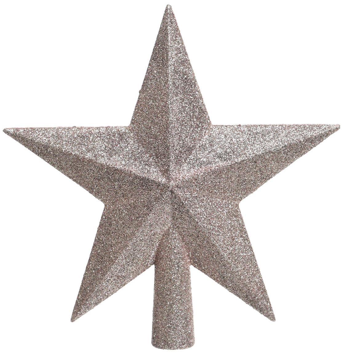 Estrella Árbol de Navidad Stern, Plástico, purpurina, Rosa, An 19 x Al 19 cm