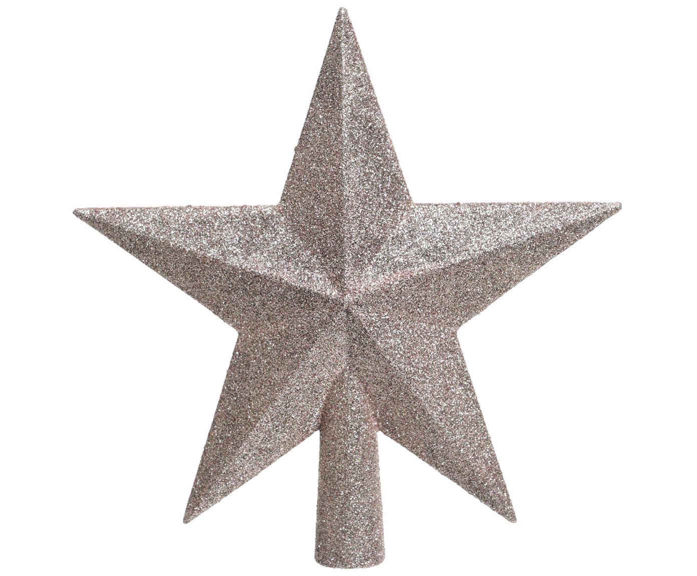 Piek Star, Kunststof, glitter, Roze, 19 x 19 cm