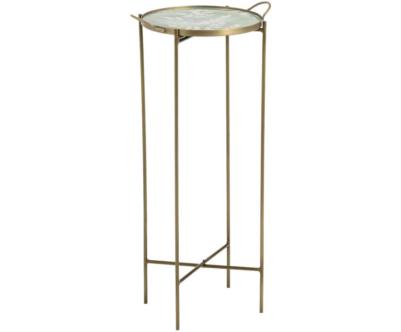 Mesa auxiliar Flor, Tablero: fibras de densidad media , Dorado, Ø 39 x Al 80 cm